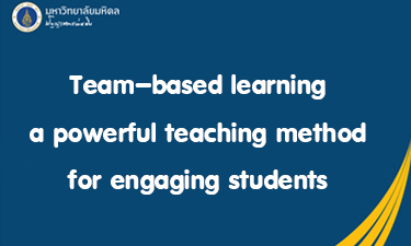Team-based learning a powerful teaching method for engaging students RA101