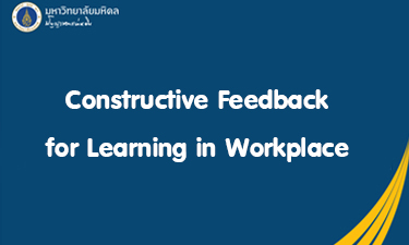 Constructive Feedback for Learning in Workplace RA102